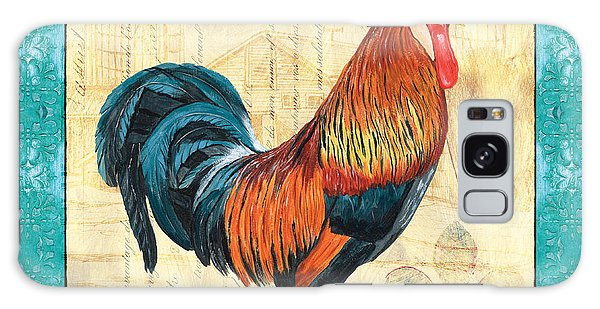 Chicken Galaxy Case - Tiffany Rooster 1 by Debbie DeWitt