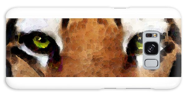 Tiger Art - Hungry Eyes Galaxy Case by Sharon Cummings