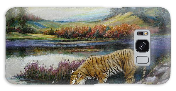 Tiger By The River Galaxy Case by Svitozar Nenyuk