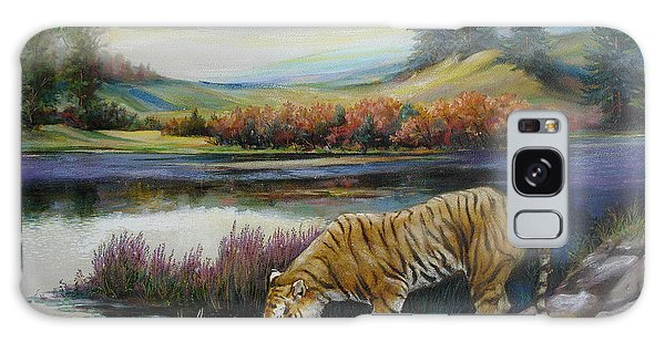 Tiger By The River Galaxy Case
