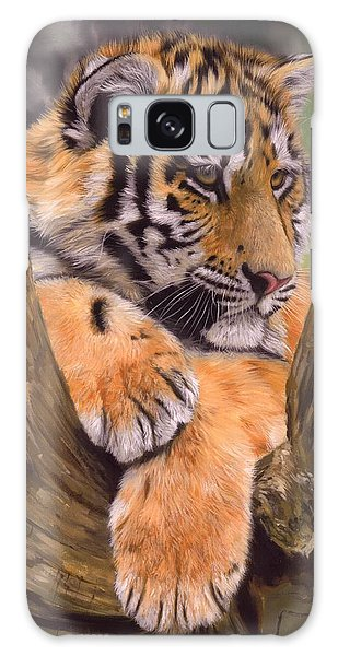 Tiger Cub Painting Galaxy Case