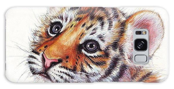 Tiger Cub Watercolor Painting Galaxy Case