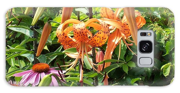 Tiger Lilies Galaxy Case by Catherine Gagne