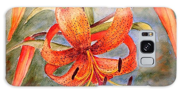Tiger Lily Galaxy Case by Carol Grimes