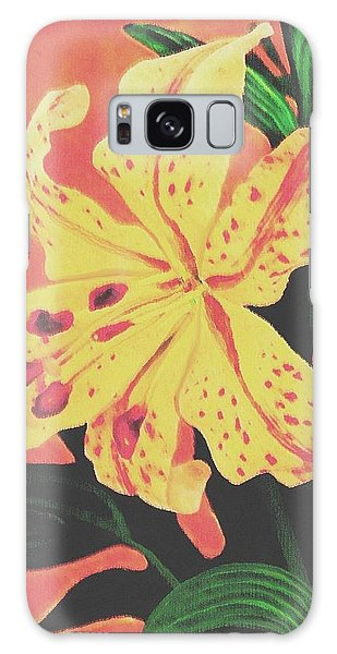Tiger Lily Galaxy Case by Sophia Schmierer