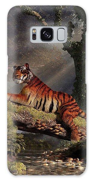 Clemson Galaxy Case - Tiger On A Log by Daniel Eskridge