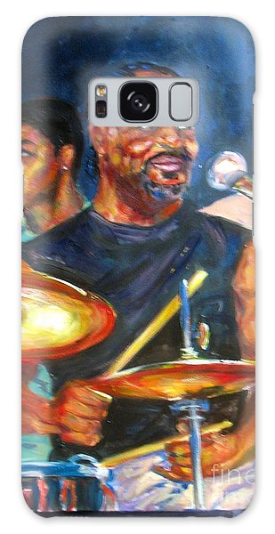 Tiger On Drums Galaxy Case