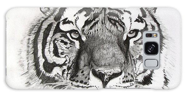 Tiger On Piece Of Paper Galaxy Case