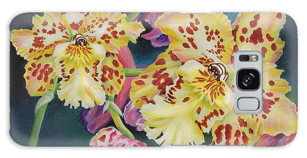 Tiger Orchid Galaxy Case by Jane Girardot