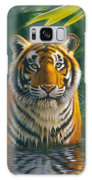 Tiger Pool Galaxy Case by MGL Studio - Chris Hiett