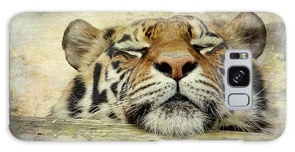 Tiger Snooze Galaxy Case by Athena Mckinzie