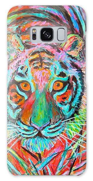 Tiger Stare Galaxy Case by Kendall Kessler