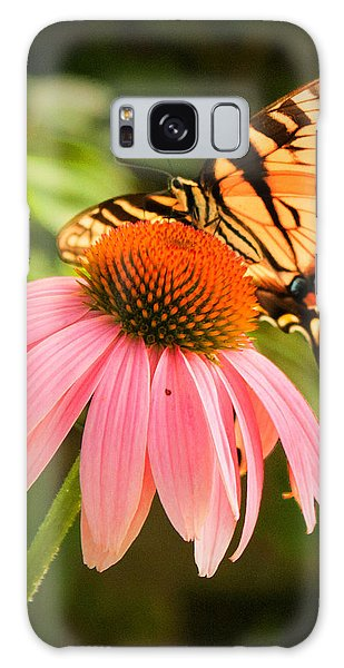 Tiger Swallowtail Feeding Galaxy Case by Michael Porchik