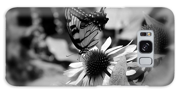 Tiger Swallowtail In Black And White Galaxy Case by Yumi Johnson