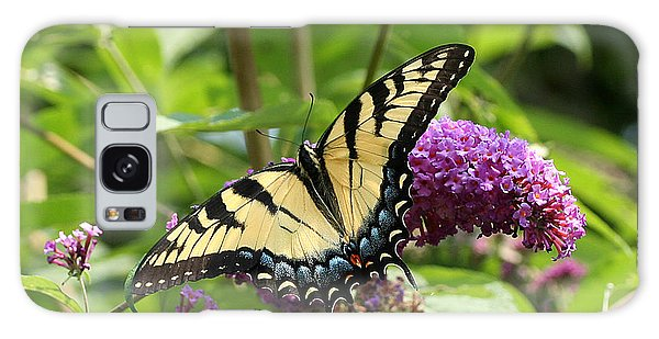 Tiger Swallowtail On Butterfly Bush Galaxy Case
