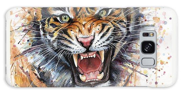 Tiger Watercolor Portrait Galaxy Case