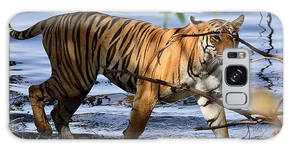 Tigress Along The Banks Galaxy Case by Fotosas Photography
