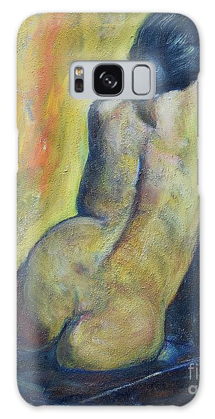 Tiina - Back Of Nude Woman Galaxy Case
