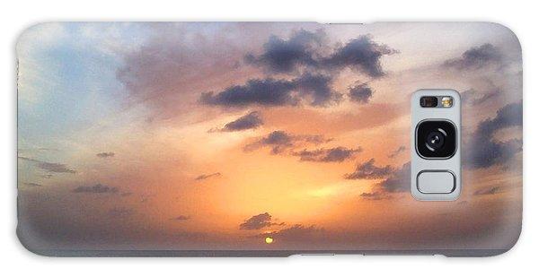 Tiki Beach Caribbean Sunset Galaxy Case by Amy McDaniel