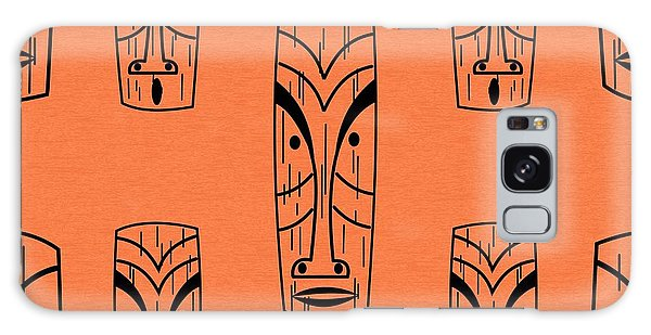 Tiki On Orange Pillow Galaxy Case