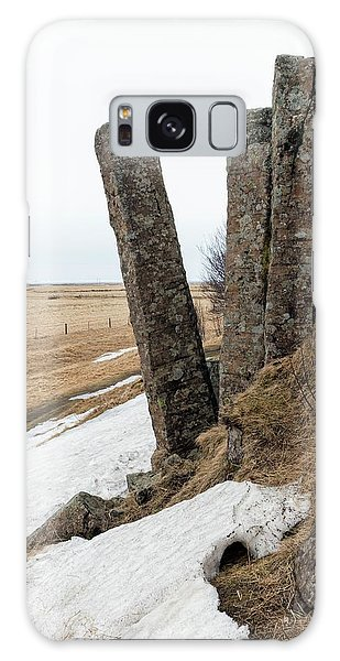 Basalt Galaxy Case - Tilted Basalt Column by Dr Juerg Alean
