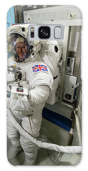 Tim Peake Preparing For Spacewalk Galaxy Case by Nasa