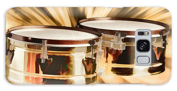 Timbale Drums For Latin Music Painting In Color 3326.02 Galaxy Case by M K  Miller