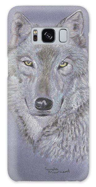 Timber Wolf Portrait Galaxy Case