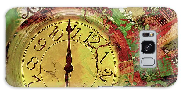 Time 6 Galaxy Case by Claudia Ellis