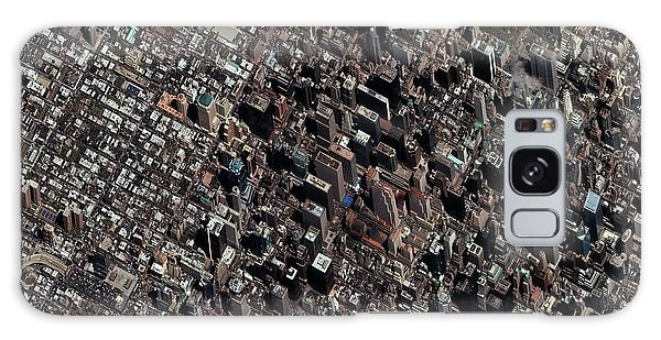 Town Square Galaxy Case - Times Square by Geoeye/science Photo Library