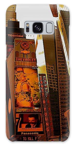 Times Square In Manhattan Galaxy Case