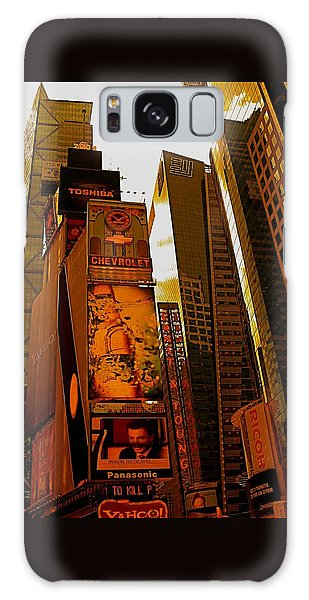 Times Square In Manhattan Galaxy Case