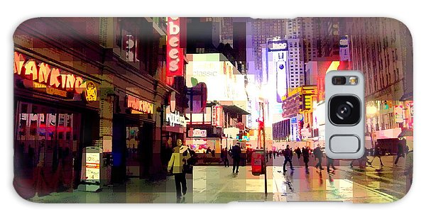 Times Square New York - Nanking Restaurant Galaxy Case by Miriam Danar