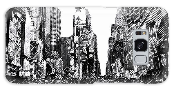 Times Square   New York City Galaxy Case