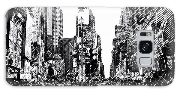 Times Square   New York City Galaxy Case by Iconic Images Art Gallery David Pucciarelli