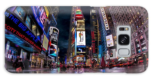 Galaxy Case featuring the photograph Times Square New York City The City That Never Sleeps by Susan Candelario