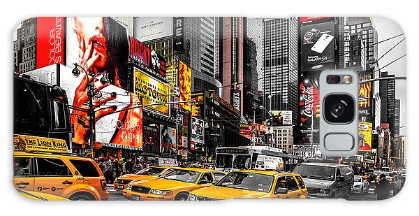 New York City Taxi Galaxy Case - Times Square Taxis by Az Jackson