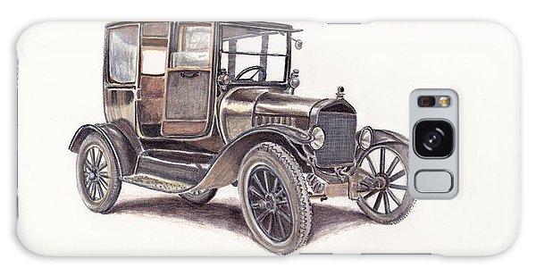 Old Truck Galaxy Case - Tin Lizzie Ford by Heather Stinnett