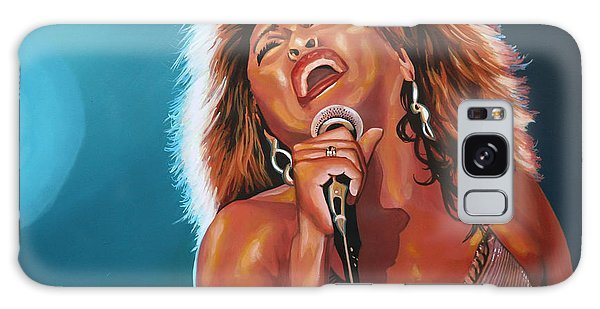 B B King Galaxy Case - Tina Turner 3 by Paul Meijering