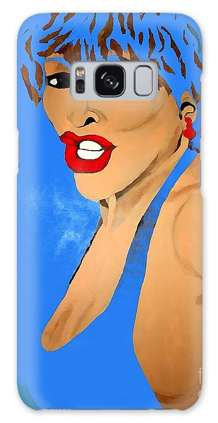 Tina Turner Fierce Blue 2 Galaxy Case