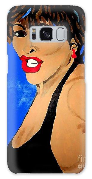 Tina Turner Fierce Blue Impression Galaxy Case