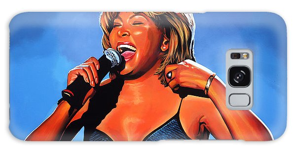 B B King Galaxy Case - Tina Turner Queen Of Rock by Paul Meijering