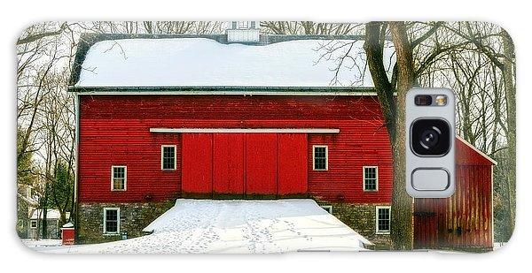 Tinicum Barn In Winter II Galaxy Case