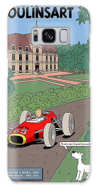Sixties Galaxy Case - Tintin Grand Prix De Moulinsart 1965  by Georgia Fowler