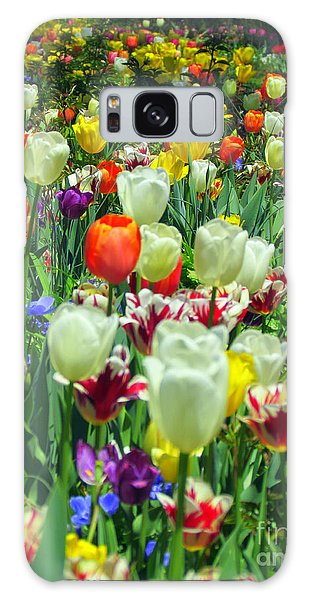 Tiptoe Through The Tulips Galaxy Case