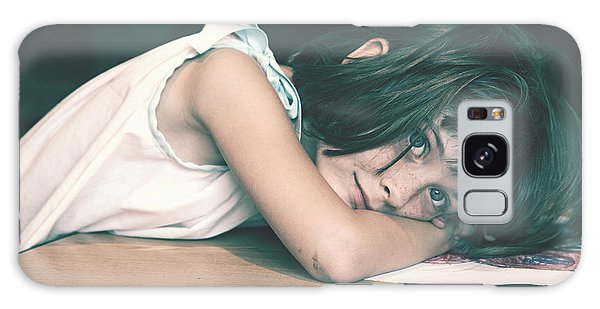 Tired Girl By Jan Marvin Galaxy Case