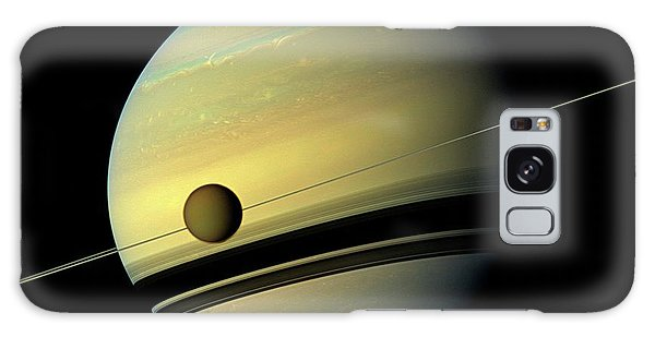 No-one Galaxy Case - Titan And Saturn by Nasa/jpl-caltech/space Science Institute
