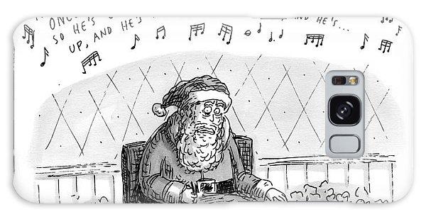 Title: Obsessive-compulsive Santa. Santa Is Shown Galaxy Case