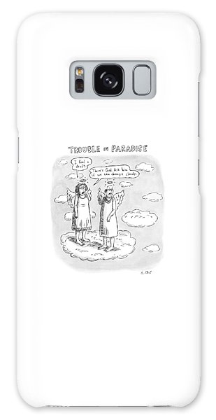 Title: Trouble In Paradise. One Angel Says Galaxy Case