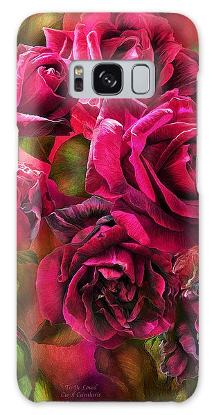 Galaxy Case featuring the mixed media To Be Loved - Red Rose by Carol Cavalaris